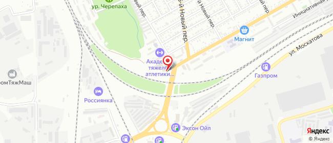 Карта расположения пункта доставки На пер. 17 Новый в городе Таганрог