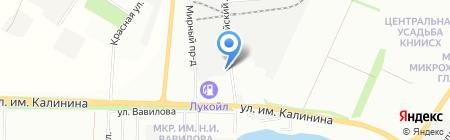 Иллюзия на карте Краснодара