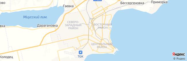 Таганрог на карте