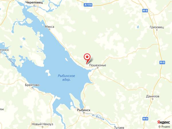 деревня Лысково на карте