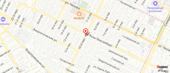 Карта расположения пункта доставки Халва в городе Таганрог