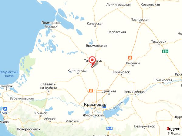 хутор Мирный на карте