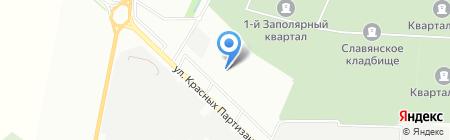 На Красных Партизан на карте Краснодара