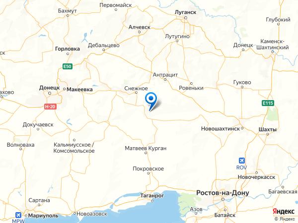 село Красная Заря на карте