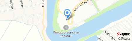 Рождественская на карте Краснодара