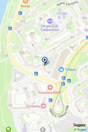 Смайл на карте Краснодара
