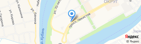 Азбука на карте Краснодара