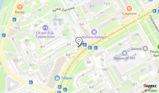 Азбука. Схема проезда в Краснодаре