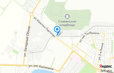 Местоположение на карте пункта техосмотра по адресу г Краснодар, ул Красных Партизан, д 67