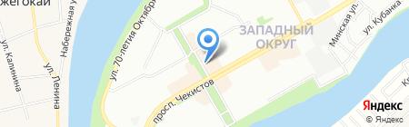 Блюс на карте Краснодара