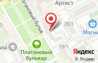 Схема проезда до компании Магистраль в Краснодаре