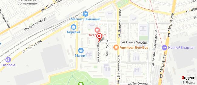 Карта расположения пункта доставки Ростелеком в городе Таганрог