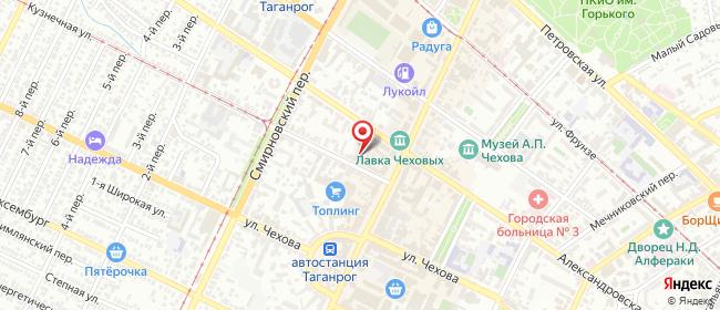 Карта расположения пункта доставки Таганрог Кузнечная в городе Таганрог