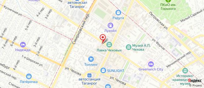 Карта расположения пункта доставки Vitel в городе Таганрог
