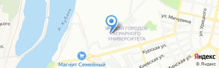 Путешествуйте с нами на карте Краснодара