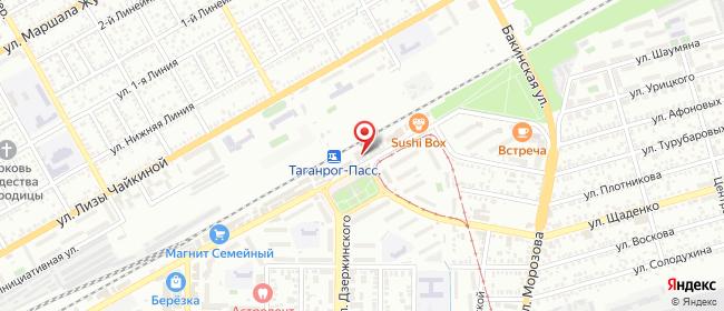Карта расположения пункта доставки Таганрог Москатова в городе Таганрог