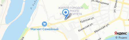Веломан на карте Краснодара