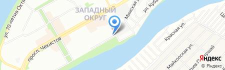 Колибри на карте Краснодара