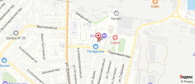 Карта расположения пункта доставки На Осипенко в городе Таганрог