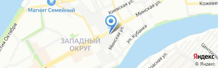 Евроокна на карте Краснодара