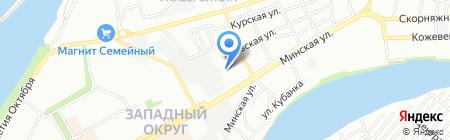 Paradis на карте Краснодара
