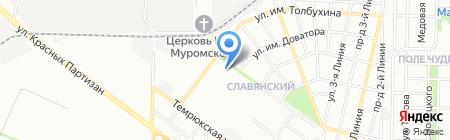 Юрсон на карте Краснодара