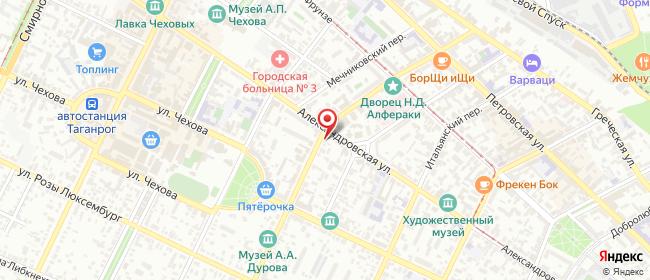 Карта расположения пункта доставки Таганрог Антона Глушко в городе Таганрог