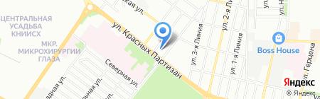 Гринфенс на карте Краснодара