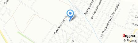 Зелёная долина на карте Краснодара