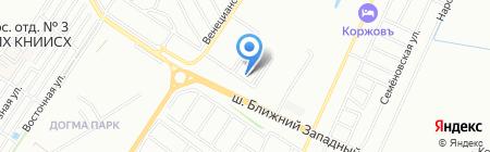 Европа-Сити на карте Краснодара