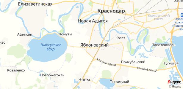 Яблоновский на карте