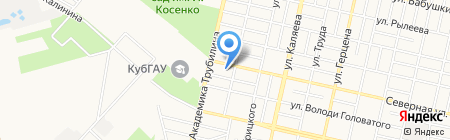 Продуктовый магазин на Северной на карте Краснодара