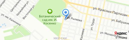 Осьминог на карте Краснодара