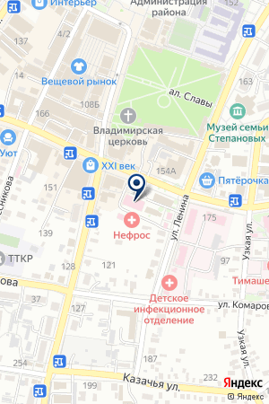 ТИМАШЕВСКАЯ ДЕТСКАЯ ПОЛИКЛИНИКА на карте Тимашевска