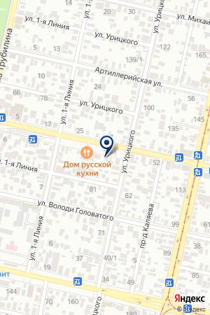 Шиномонтажная мастерская на Северной на карте Краснодара