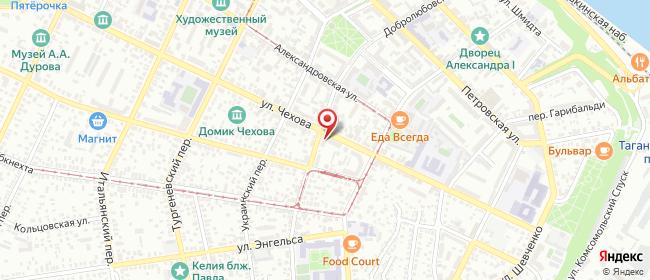 Карта расположения пункта доставки Таганрог Чехова в городе Таганрог