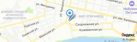 Детский сад №16 на карте Краснодара