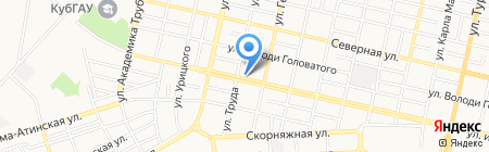 Партнёр на карте Краснодара