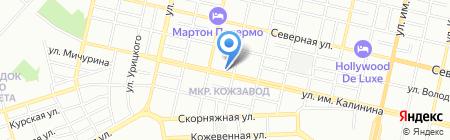 Гудзон на карте Краснодара