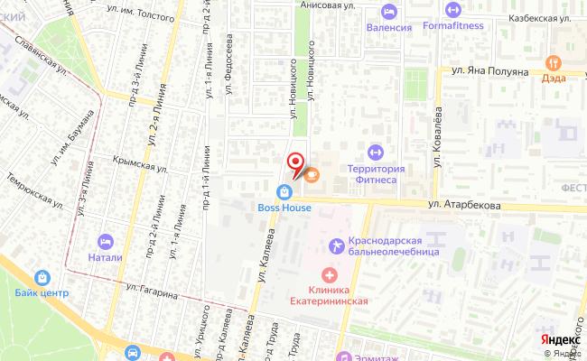 Карта расположения пункта доставки Lamoda/Pick-up в городе Краснодар
