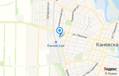 Местоположение на карте пункта техосмотра по адресу Краснодарский край, ст-ца Каневская, ул Краснодонская, д 101Б