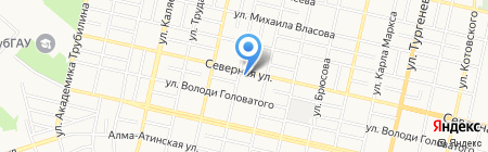 Золотой локон на карте Краснодара