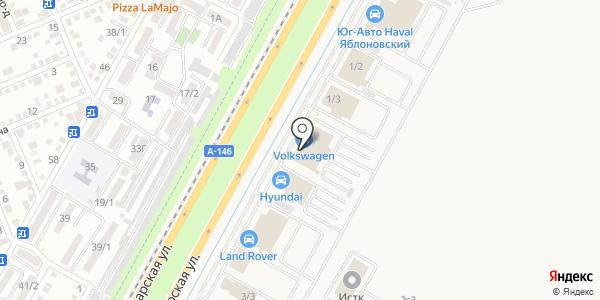Volkswagen. Схема проезда в Яблоновском