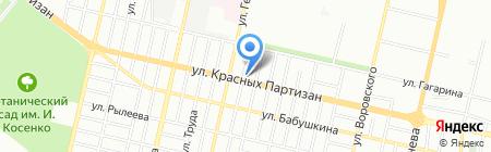 Градиент-принт на карте Краснодара