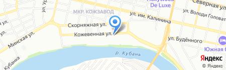 Зенит на карте Краснодара