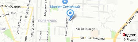 Кипарис на карте Краснодара