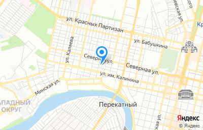 Местоположение на карте пункта техосмотра по адресу г Краснодар, ул им. Кропоткина, д 50