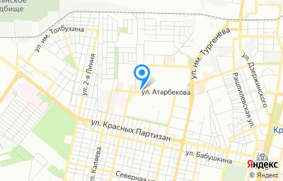 Местоположение на карте пункта техосмотра по адресу г Краснодар, ул им. Ковалева, д 1/1