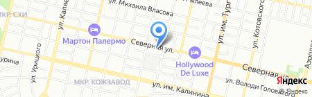 4 комнаты на карте Краснодара