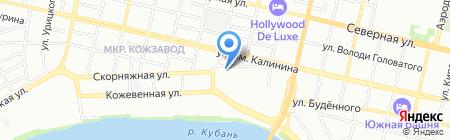 Адвокат Патынко С.Н. на карте Краснодара